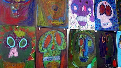 Day of the Dead art project for kids classroom