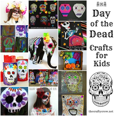 The Crafty Crow Day of the Dead crafts for kids 2014