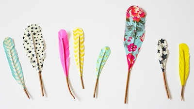 What To Do With Washi Tape washi tape feathers - things to make and do, crafts and activities