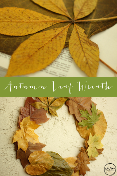 pressed leaf wreath fall craft