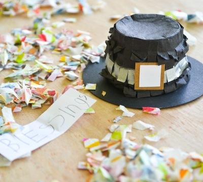 mini pilgrim hat piñata