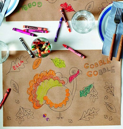 free Thanksgiving place mat for kids printable
