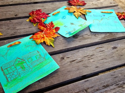 thankful bunting for kids to make for Thanksgiving