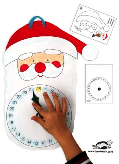 printable Santa advent countdown calendar