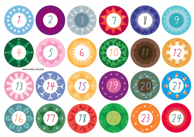 picture about Advent Calendar Numbers Printable named Components toward Crank out and Do, Crafts and Routines for Small children - The