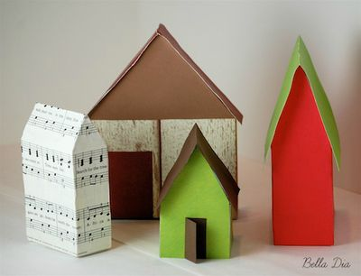 Bella Dia cereal box houses tutorial DIY paper covered