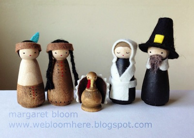 peg doll pilgrims and native americans tutorial
