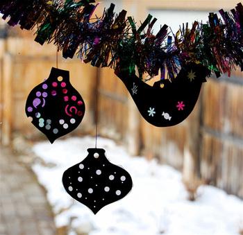 Bella Dia Advent Day 4 The Trees Of The Dancing Goats And Tissue Paper Ornament Silhouettes