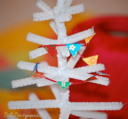 Bella Dia Christmas book and craft advent mini tree garland DIY