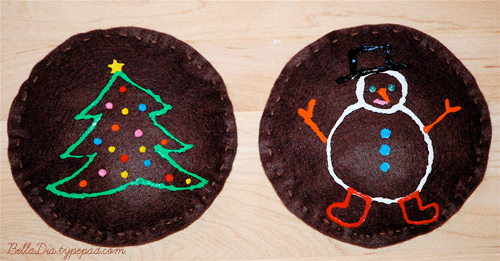 Bella Dia Christmas Book and Activity Advent gingerbread man bean bag craft and games kids can play for Christmas