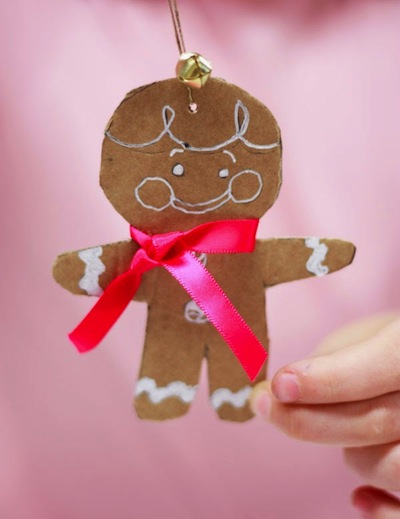 cardboard gingerbread men craft