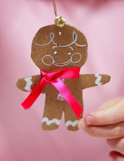 cardboard gingerbread men craft