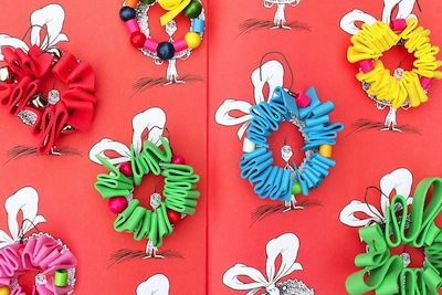 grinch wreath ornaments kids can make with craft foam