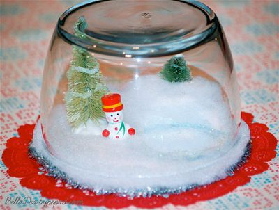 Bella Dia Christmas Book and Craft Advent miniature snowglobes