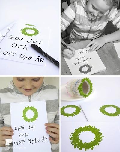 q-tip printed wreath