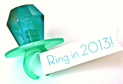 New Year's Eve candy ring favor