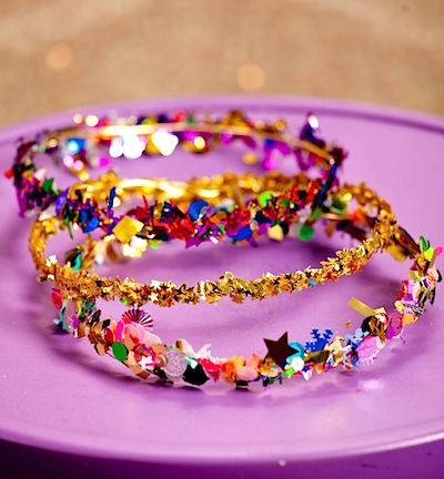 confetti crown craft for New Year's Eve party
