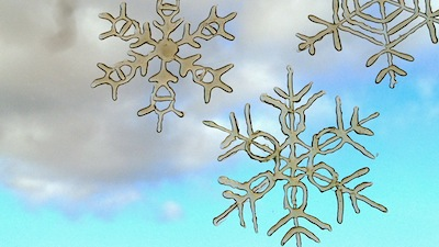 how to make hot glue snowflake window clings