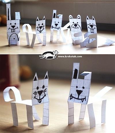 Krokotak graph paper animals printable