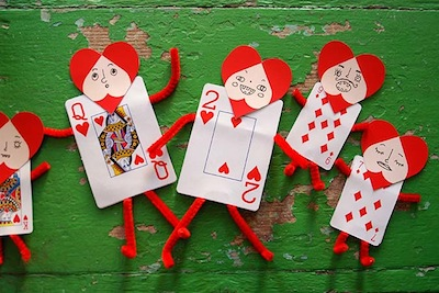 playing card valentines that kids can make