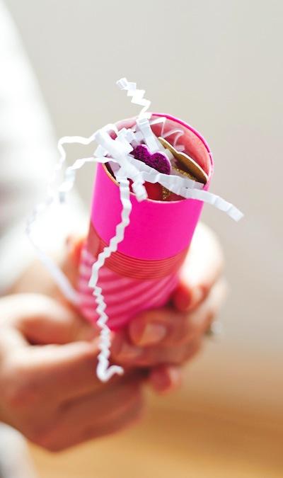 confetti popper valentine's card DIY