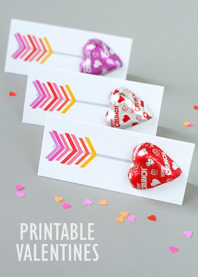 printable arrow valentines