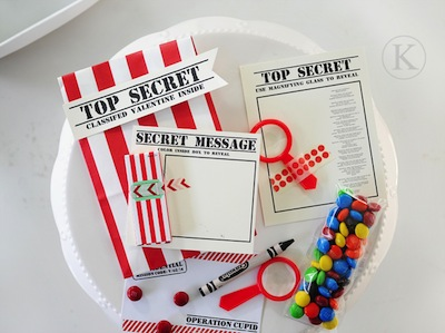 top secret Valentine card printables