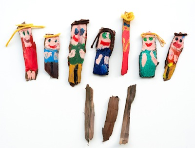 tree bark dolls kids craft