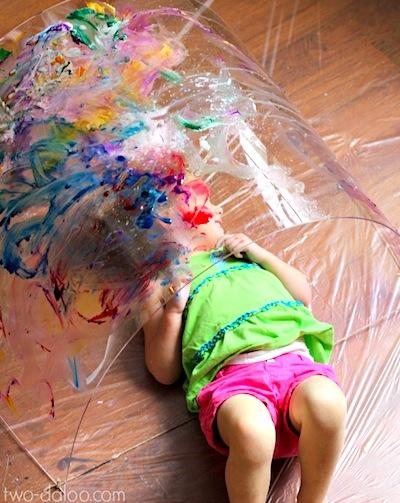 painting a rainbow 3d art