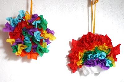 crepe tissue paper rainbows