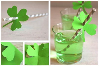 shamrock straws party idea