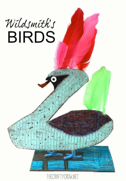 The Crafty Crow Brian Wildsmith's Birds art lesson for kids