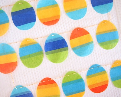 crepe paper Easter egg garland