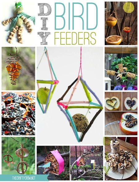 The Crafty Crow DIY wild bird feeders round-up