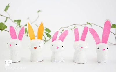 cork bunny rabbits Easter DIY
