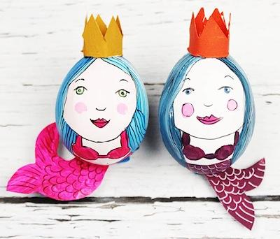 Alisa Burke mermaid Easter egg decorating ideas