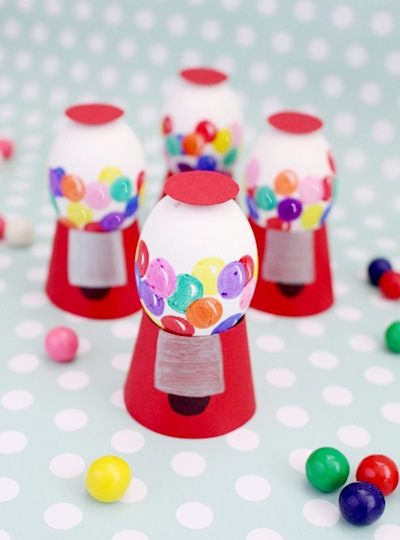 gumball machine Easter egg decorating idea
