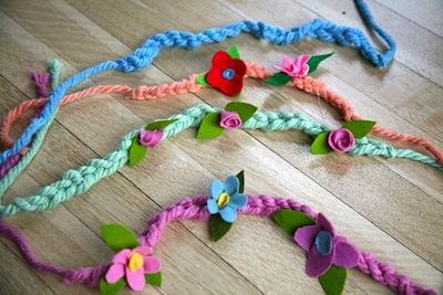 spring flower crowns