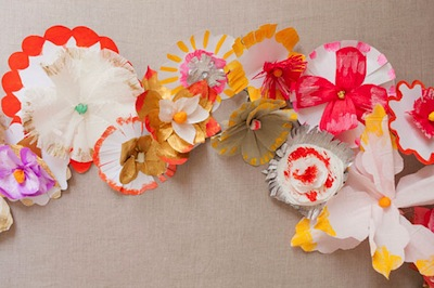 hand painted paper flowers DIY