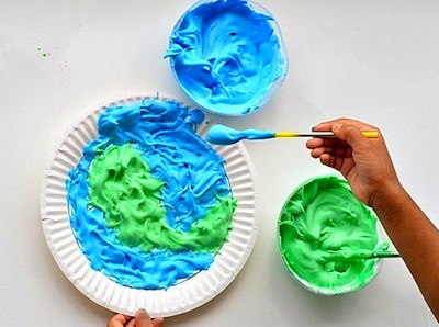 Earth Day puffy paint art