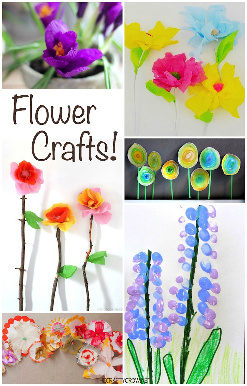 The Crafty Crow DIY flower crafts for kids