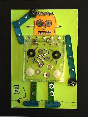 CD case robot craft for preschoolers