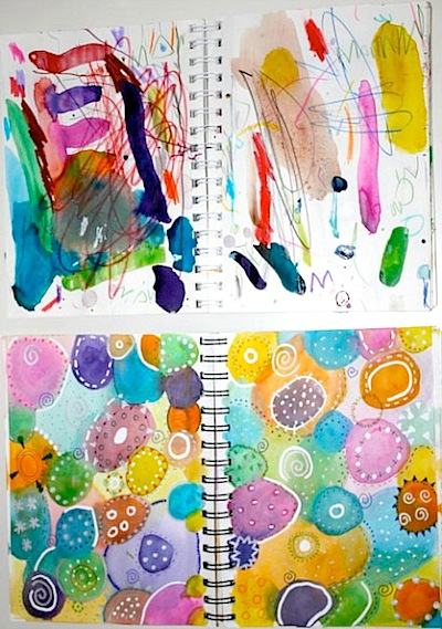 beginning art journals for kids and parents