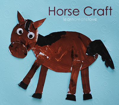 horse craft printable for kids