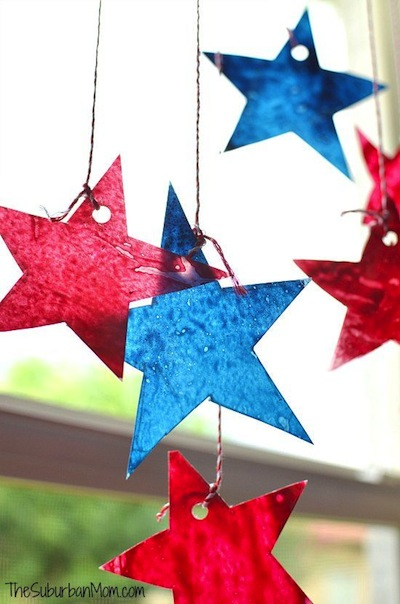 4th of July star sun catcher craft
