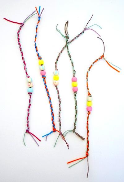 Braided Friendship Bracelets Craft For Kids