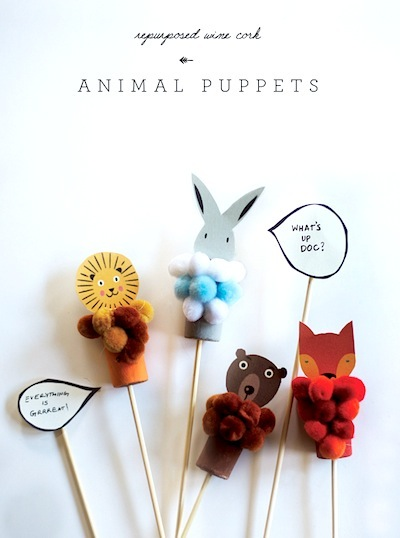 cork puppet craft