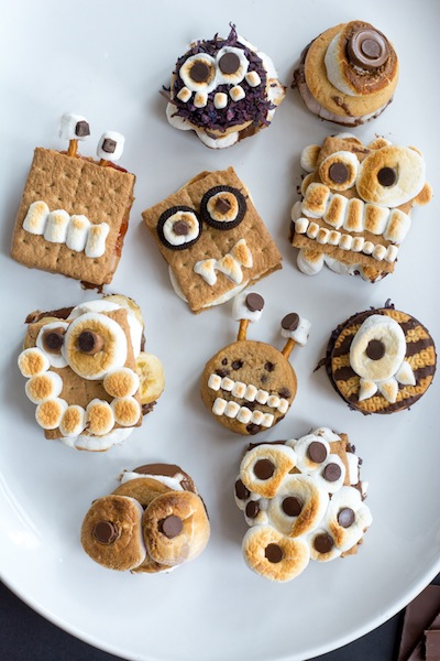monster s'mores Halloween party treat