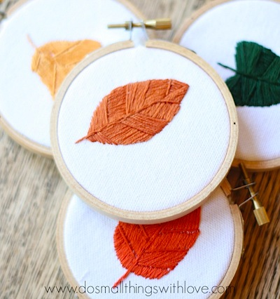 easay fall leaf stitchery