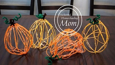 yarn pumpkin craft for kids